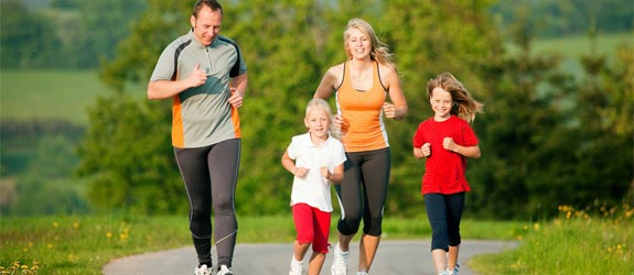 family-kids-exercising